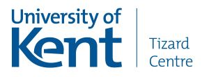 Tizard Centre, University of Kent logo